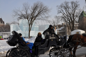 2015 ice castle with horse and buggy 3